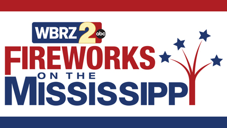 WBRZ Fireworks on the Mississippi West Baton Rouge