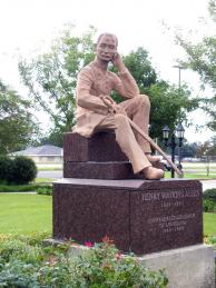 Hero's Plaza & Statue of Gov. Henry Watkins Allen  - West Baton Rouge Louisiana